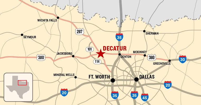 Map Of Decatur Texas