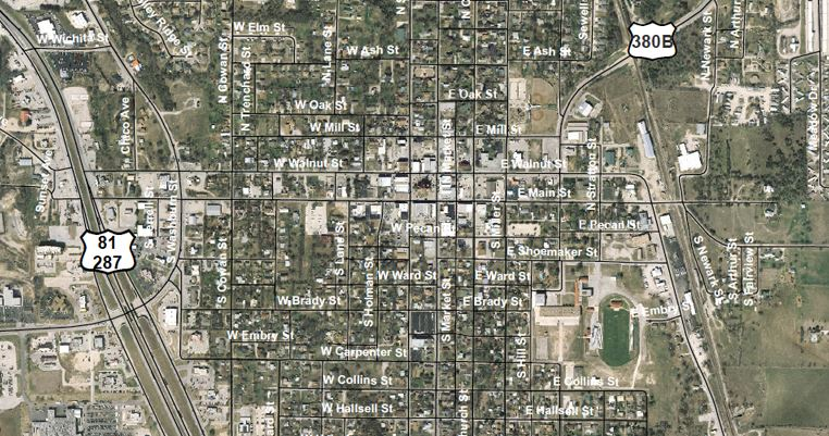 Decatur Aerial Street Map